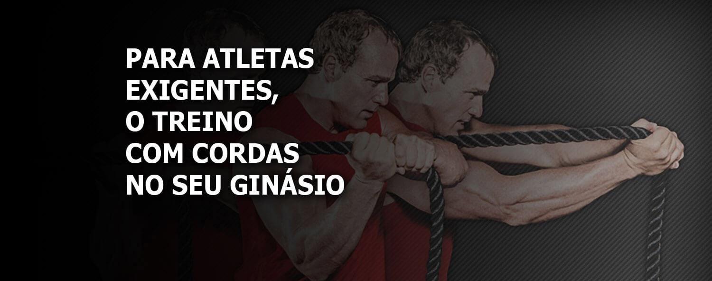 Para os atletas exigentes, o treino com cordas no seu ginásio
